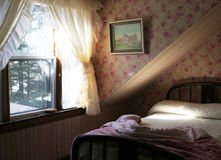 Pretty pink bedroom for a girl Royalty Free Stock Photography
