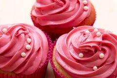 Pretty pink cupcake Stock Photos