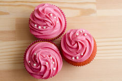 Pretty pink cupcake Stock Photography