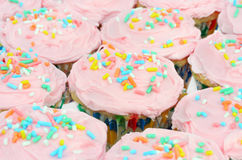 Pretty Pink Cupcake Background Royalty Free Stock Images
