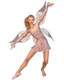 Pretty Pink Fairy. Pretty blonde fairy with pink dress and wings, 3d digitally rendered illustration Royalty Free Stock Images