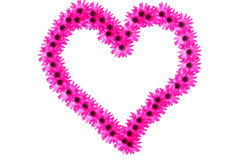 Pretty pink floral heart of flowers Royalty Free Stock Photo