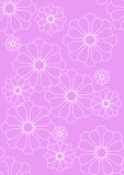 Pretty pink floral textile Stock Images