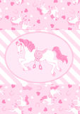Pretty pink horses. Royalty Free Stock Photo