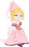 Pretty Pink Medieval Princess Stock Photo
