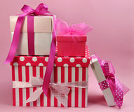 Pretty Pink Presents and Gifts Royalty Free Stock Images