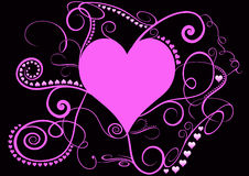 Pretty pink spiral heart Royalty Free Stock Photography
