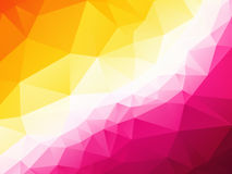 Pretty pink yellow background. Pretty pink yellow triangular background Stock Images