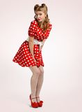 Pretty pinup girl Stock Photography