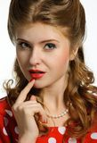 Pretty pinup girl Royalty Free Stock Photo