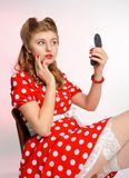 Pretty pinup girl Royalty Free Stock Image