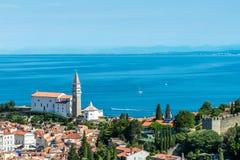 Pretty Pirano Piran town in Slovenia royalty free stock image
