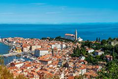 Pretty Pirano Piran town in Slovenia royalty free stock photos