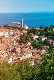 Pretty Pirano Piran town in Slovenia stock photos