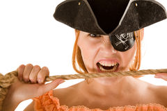 Pretty pirate Stock Image