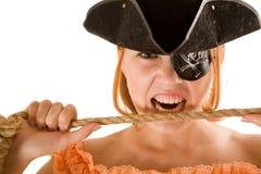Pretty pirate stock image