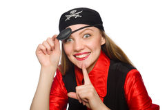 Pretty pirate girl Royalty Free Stock Photography