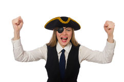 Pretty pirate girl Stock Images