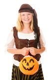 Pretty Pirate on Halloween Royalty Free Stock Photos