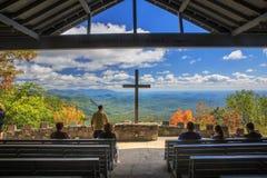 Pretty Place Outdoor Chapel Cedar Mountain South Carolina Stock Photos