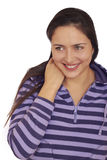 Pretty playful laughing brunette girl. Royalty Free Stock Photo
