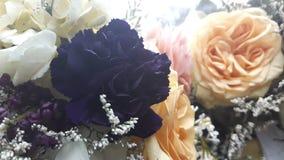 Pretty in Plum. Best friends wedding day bouquet Stock Image