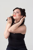 Pretty plus size brunette Royalty Free Stock Images
