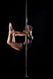 Pretty pole dance woman in costume Royalty Free Stock Photo