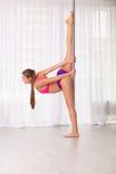 Pretty pole dancer woman Royalty Free Stock Photos