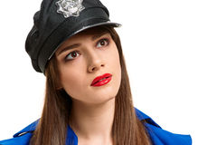 Pretty Police girl Royalty Free Stock Images