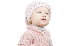 Pretty portrait of caucasian toddler girl Royalty Free Stock Image