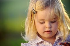 Pretty portrait of a little girl Stock Image