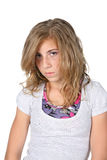 Pretty pouting girl royalty free stock photography