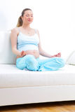 Pretty pregnant woman Stock Image