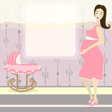Pretty pregnant woman Stock Photography