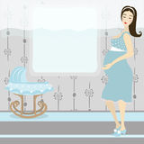 Pretty pregnant woman Royalty Free Stock Photography