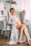 A pretty pregnant woman Royalty Free Stock Photo