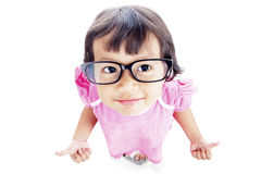 Pretty preschooler with thumbs-up Royalty Free Stock Photography