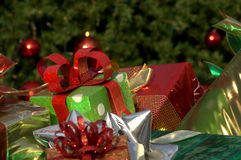 Pretty presents-red and green Stock Photography