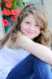 Pretty Preteen Girl with Long Hair Royalty Free Stock Image