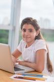 Pretty preteen girl Stock Image
