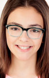 Pretty preteenager girl with glasses Royalty Free Stock Photography