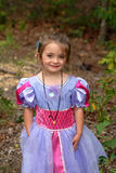 Pretty Princess. A pretty young girl dressed in her princess dress with a sweet smile on her face Stock Photos