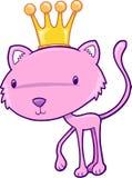 Pretty Princess Cat Vector Illustration. Cute Pretty Princess Cat Vector Illustration