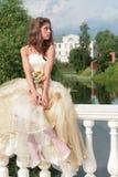 Pretty princess dreams of future Stock Photography