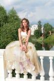 Pretty princess dreams of future Royalty Free Stock Image