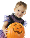 Pretty Pumpkin Preschooler Royalty Free Stock Photo