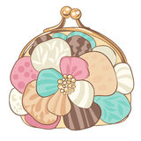 Pretty purse with pastel colors Royalty Free Stock Photography
