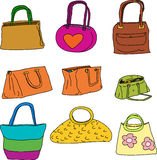 Pretty Purses and Handbags Royalty Free Stock Photo