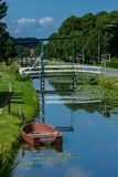 Pretty and quiet Dutch canal stock photo